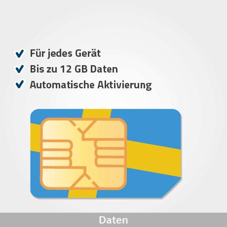 schweden prepaid sim karte