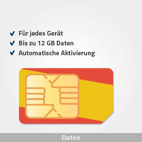spanien prepaid sim karte